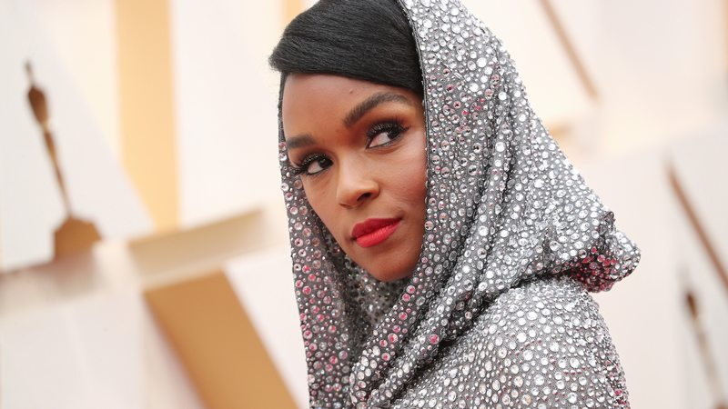 Janelle Monae Tucked Away Her Hair Accessories to Serve Nothing But Face at theOscars
